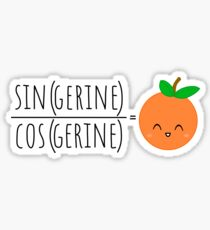 Tan(gerine) Math Sticker