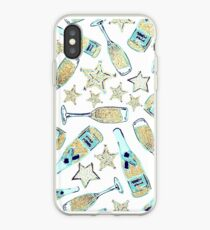 Adrettes Champagner-Glitter-Muster iPhone-Hülle & Cover