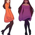 Oversized Sweater Girls Sticker Set by radissonclaire
