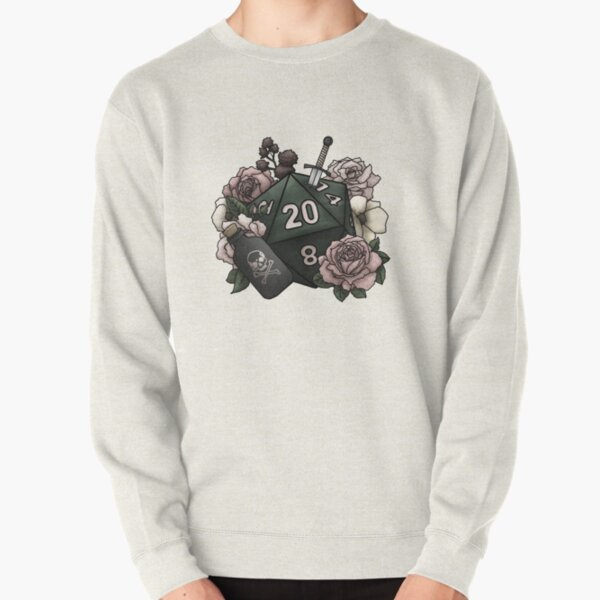Rogue Class D20 - Tabletop Gaming Dice Pullover Sweatshirt
