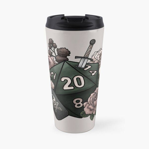 Rogue Class D20 - Tabletop Gaming Dice Travel Mug
