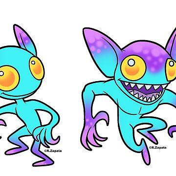 Pastel hopkinsville Alien Goblins de nyctherion