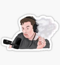 Elon Musk Smoking Weed Meme Sticker