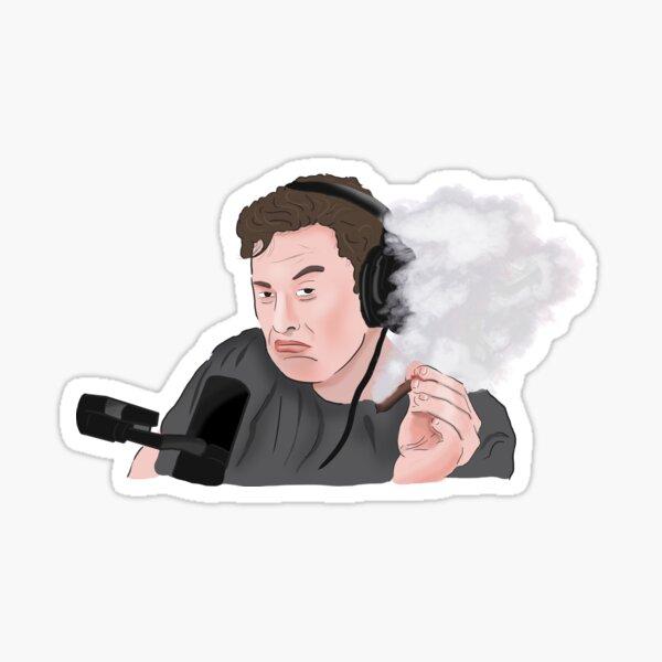 Elon Musk Smoking Weed Meme Sticker