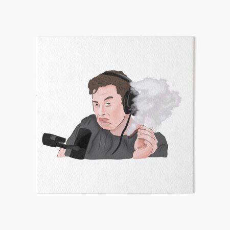 Elon Musk Smoking Weed Meme Art Board Print