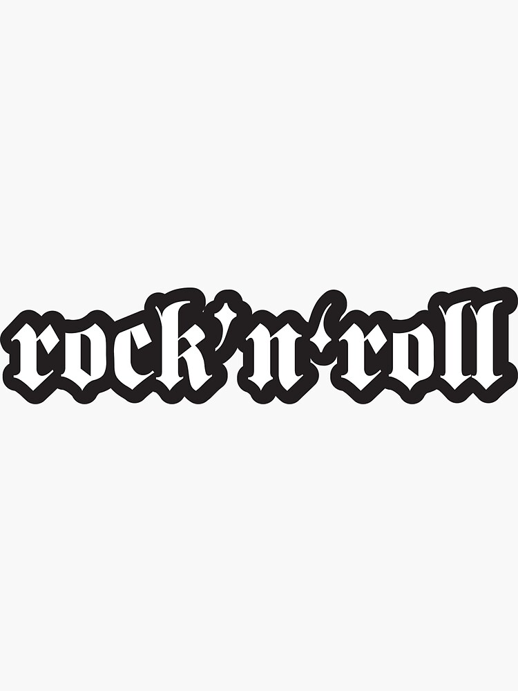 Rock and Roll - Cool Motorcycle Or Rock Helmet Stickers by Bikerstickers