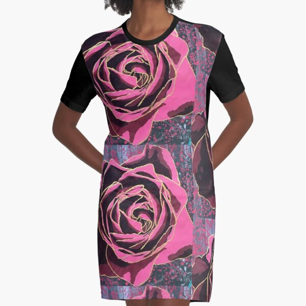 Shakti Rose Graphic T-Shirt Dress