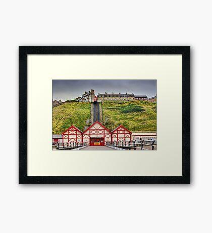 Saltburn Funicular Lift Framed Print