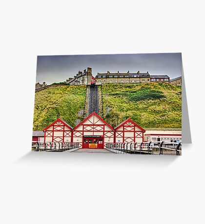 Saltburn Funicular Lift Greeting Card