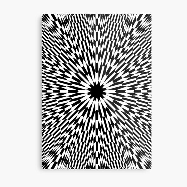 #abstract #pattern #wallpaper #design #texture #black #white #decorative #fractal #art #digital #blue #illustration #graphic #optical #geometric #seamless #star #green #color #monochrome #fabric  Metal Print