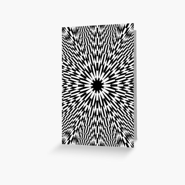 #abstract #pattern #wallpaper #design #texture #black #white #decorative #fractal #art #digital #blue #illustration #graphic #optical #geometric #seamless #star #green #color #monochrome #fabric  Greeting Card