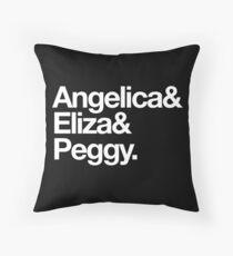 Schuyler Sister Trinity (Hamilton) Throw Pillow