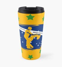 lets dance brazilian zouk flag color design Travel Mug