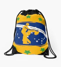 lets dance brazilian zouk flag color design Drawstring Bag