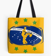 lets dance brazilian zouk flag color design Tote Bag