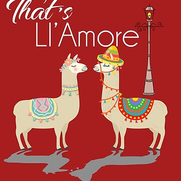 Llama Amore Love Paris Alpaca by PopArtDesigns