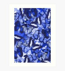 Composition With Echoed Butterflies #6  Art Print