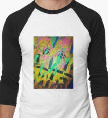 Abstract acrylic  Men's Baseball ¾ T-Shirt