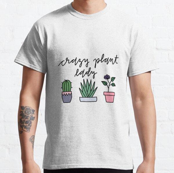 Crazy plant lady plants drawing Classic T-Shirt