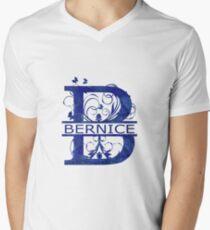 Bernice | Girls Name Monogram | Watercolor and Butterflies Men's V-Neck T-Shirt