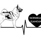 Norwegian Elkhound EKG Line by aheadgraphics
