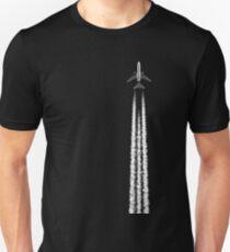 PLANE WITH CONTRAILS Unisex T-Shirt