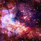 Our Amazing Universe - Westerlund 2 — Hubble's 25th Anniversary Image (Color Enhanced) by SirDouglasFresh