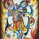 Krishna Flute - Cow by Harsh  Malik