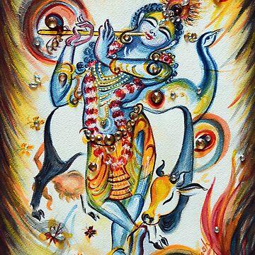Krishna Flute - Cow by hlmalik