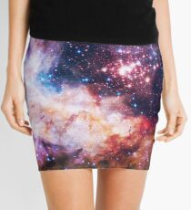 I Love The Universe - Infinite Flower of Life Pattern - Westerlund 2 — (Color Enhanced) Mini Skirt