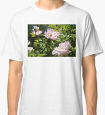 Wild Pink Roses Under the Sun Classic T-Shirt