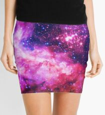 Pink Universe / Galaxy - Infinite Flower of Life Pattern - Westerlund 2 — (Color Enhanced) Mini Skirt