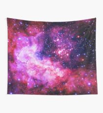 Pink Universe / Galaxy - Infinite Flower of Life Pattern - Westerlund 2 — (Color Enhanced) Wall Tapestry