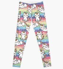 Caticorn Rainbow Pattern Design Leggings