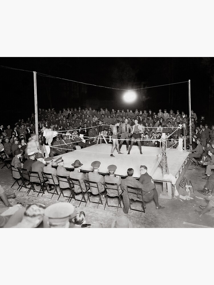 Boxing Match, 1919. Vintage Photo by historyphoto