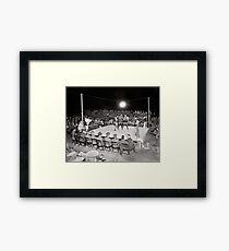 Boxkampf, 1919. Vintage Foto Gerahmtes Wandbild