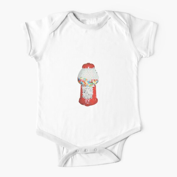 candy fragments Short Sleeve Baby One-Piece