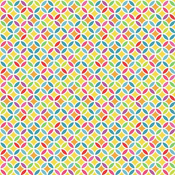 Rainbow Geometric Lattice Circles Pattern by quarantine81