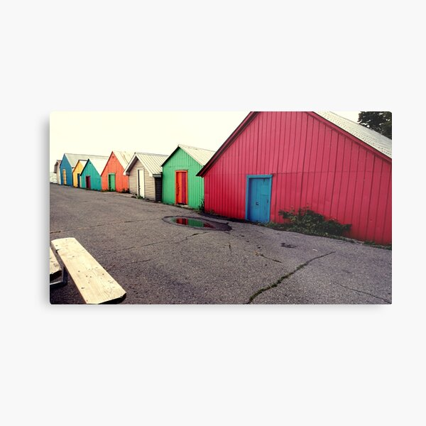 old boathouses at the warf Metal Print