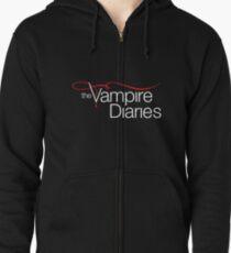 The Vampire Diaries Logo  Zipped Hoodie