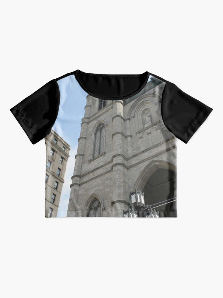 Alternate view of church cathedral architecture building religion tower gothic france europe old city catholic landmark religious portugal travel facade sky history stone ancient monument medieval st tourism Chiffon Top