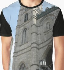 church cathedral architecture building religion tower gothic france europe old city catholic landmark religious portugal travel facade sky history stone ancient monument medieval st tourism Graphic T-Shirt