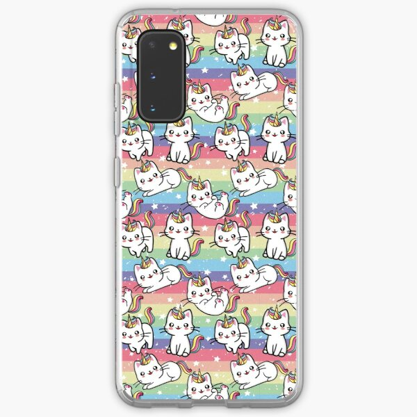 Caticorn Rainbow Pattern Design Samsung Galaxy Soft Case