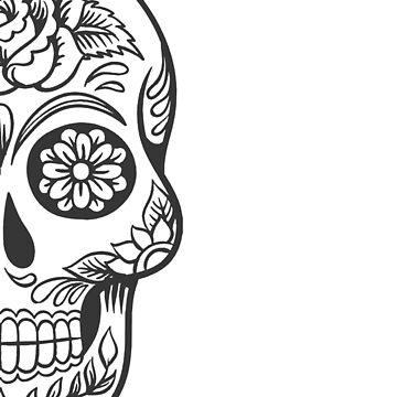Half Skull with S/S Logo by stuartist