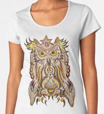 Psychedelic Night Owl Women's Premium T-Shirt