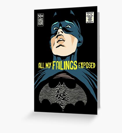 All My Failings Exposed Greeting Card