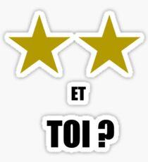 FRANCE COUPE DU MONDE WINNER MBAPPE 2 ETOILES ET TOI ? WORLDCUP  Sticker