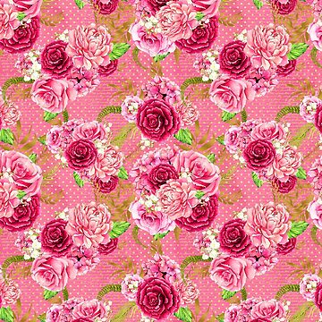 Pink & Red Floral Pattern by quarantine81