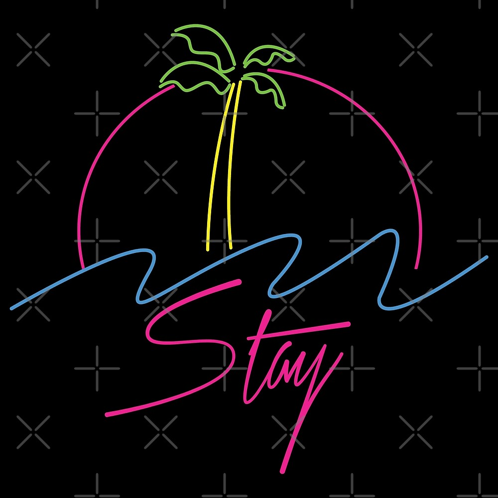 Neon Palm Tree Vaporwave Aesthetics by CentipedeNation