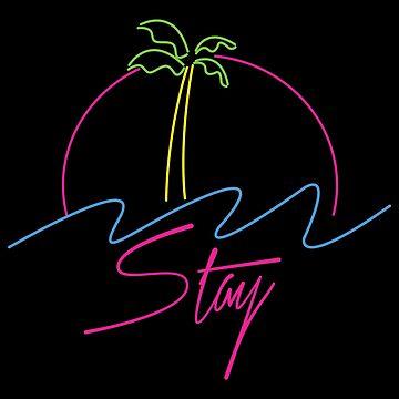 Neon Palm Tree Vaporwave Aesthetics by CentipedeNation
